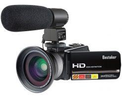 【Besteker】赤外線搭載のハンディーカムビデオ・ナイトビジョンモードで夜間でも高画質のビデオ撮影OK!